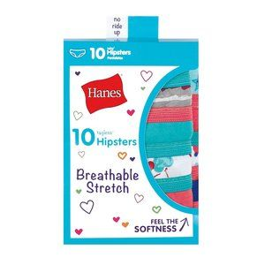 Hanes Girls' Breathable Stretch Underwear Hipsters